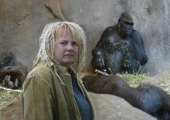 Dawn Prince-Hughes with a gorilla family (Photo: Robynne Sapp)